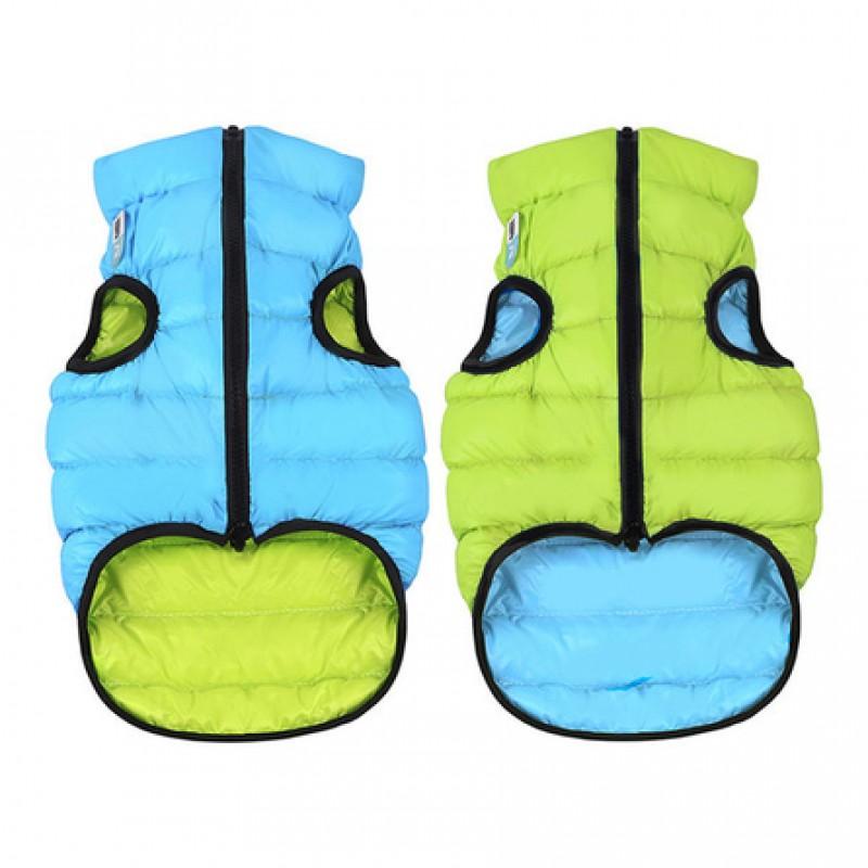 Collar AiryVest Курточка двухсторонняя для собак, салатово-голубая