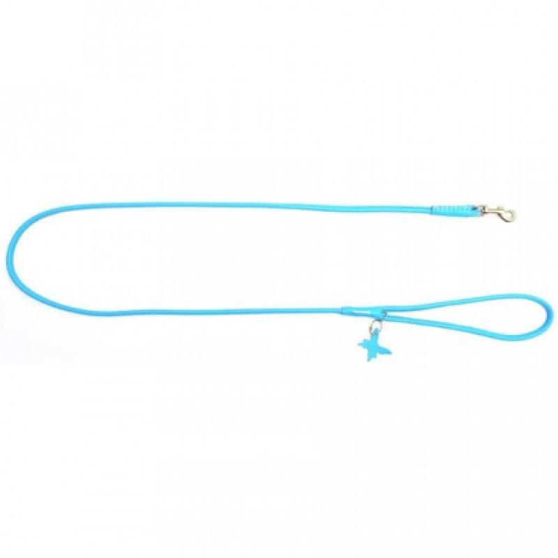 CoLLaR GLAMOUR Поводок круглый синий (ширина 6 мм, длина 122 см)
