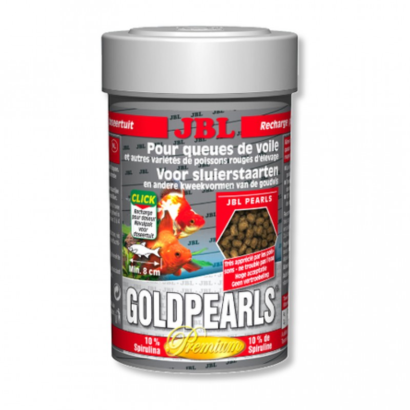 JBL GoldPearls Корм для золотых рыбок, гранулы, 100 мл