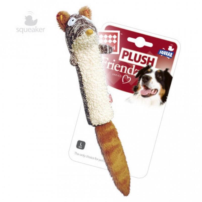 GiGwi Plush Friendz Игрушка для собак Белка с пищалкой
