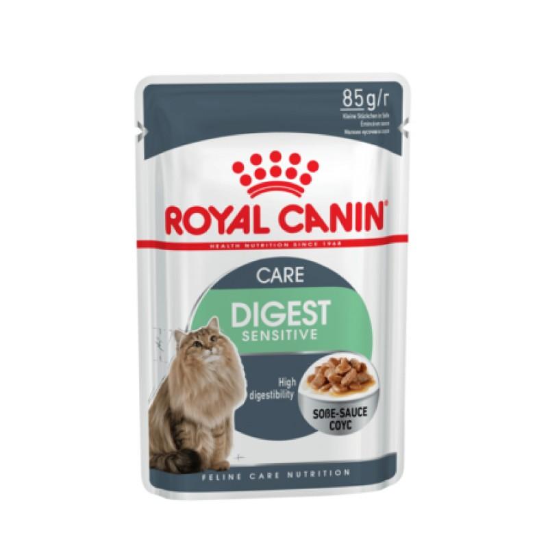 Royal Canin Digest Sensitive Кусочки паштета в соусе для взрослых кошек с чувствительным пищеварением, 85 гр