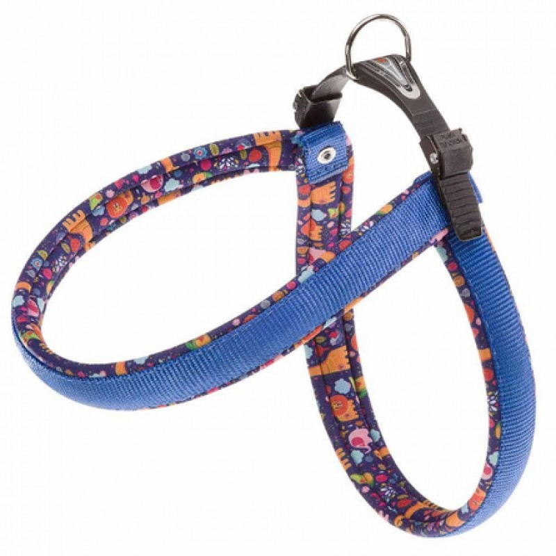 Ferplast Agila Fantasy Шлейка для собак, ширина 1,5 см, обхват 42-50 см, синяя