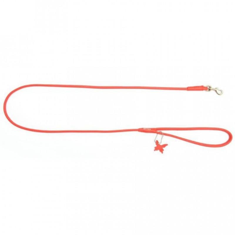CoLLaR GLAMOUR Поводок круглый красный (ширина 8 мм, длина 122 см)