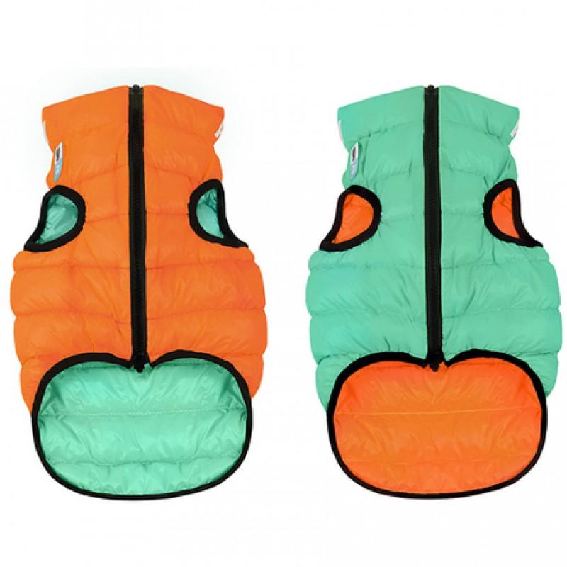 Collar AiryVest Lumi Куртка двухсторонняя светящаяся для собак, салатово-оранжевая