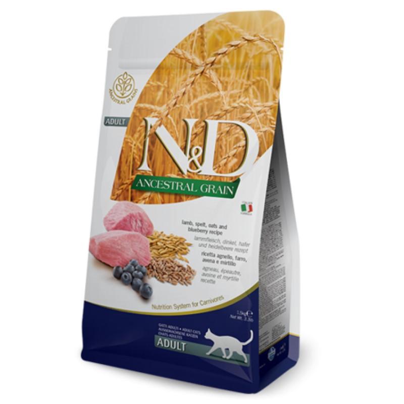 Farmina N&D LG сухой корм для кошек (ягненок с черникой), 1,5 кг