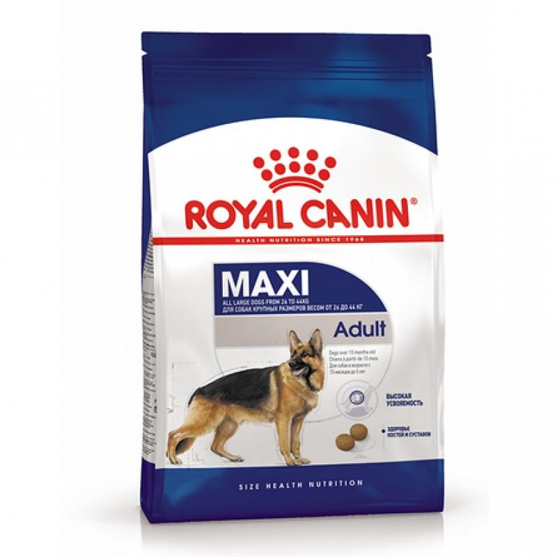 Royal Canin Maxi Adult Сухой корм для взрослых собак крупных пород, 15 кг