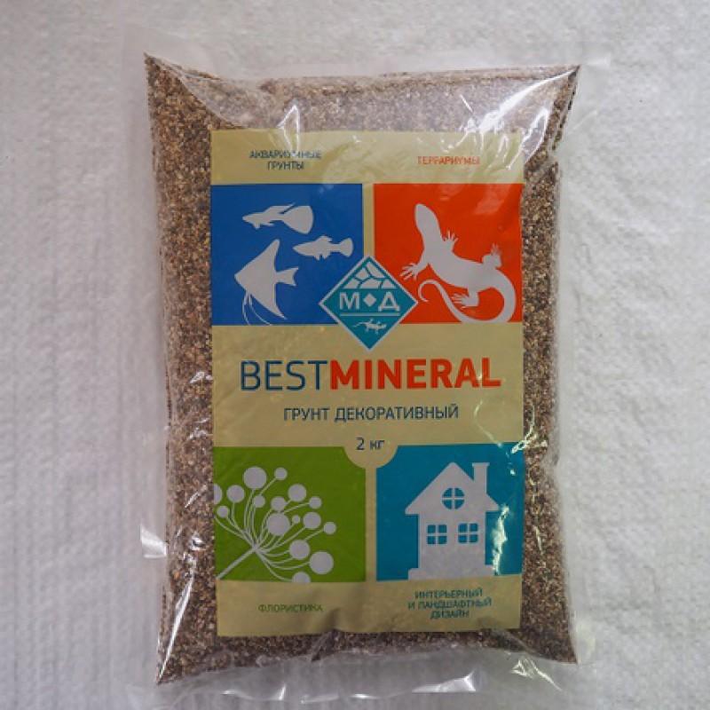 Best Mineral Галька реликтовая №0, фракция 1-3 мм, 2 кг