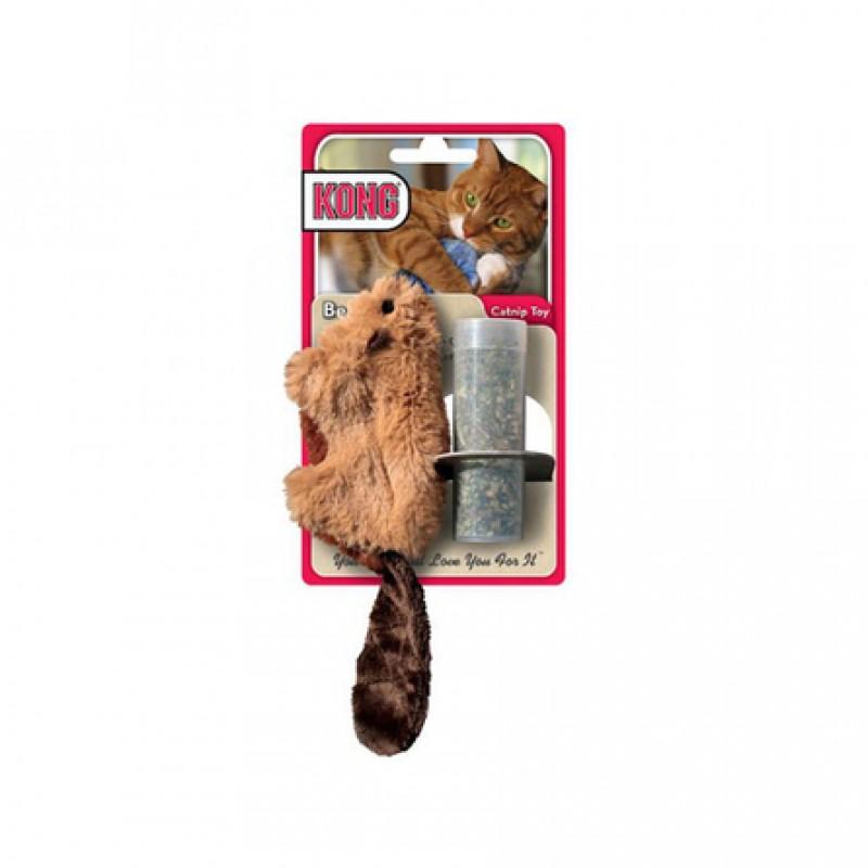 Kong Бобер Игрушка для кошек, с кошачьей мятой