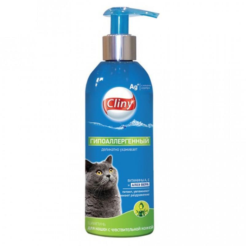 Cliny Гипоаллергенный шампунь для кошек, 200 мл