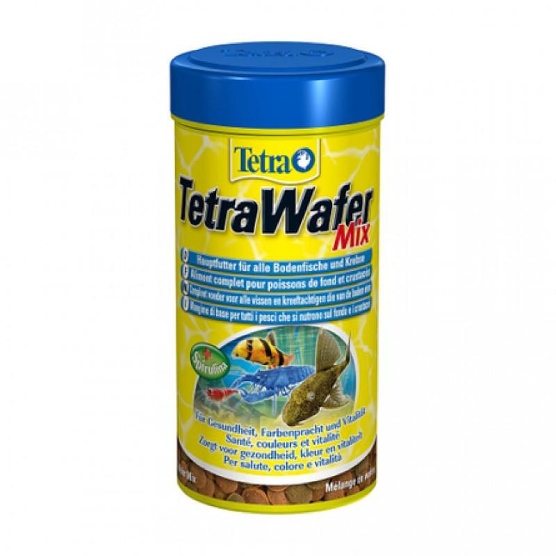 TetraWafer Mix Основной корм для всех видов травоядных донных рыб, 100 мл