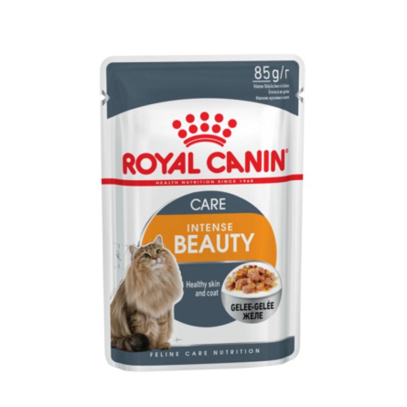 Royal Canin Intense Beauty Кусочки паштета в желе для взрослых кошек для кожи и шерсти, 85 гр