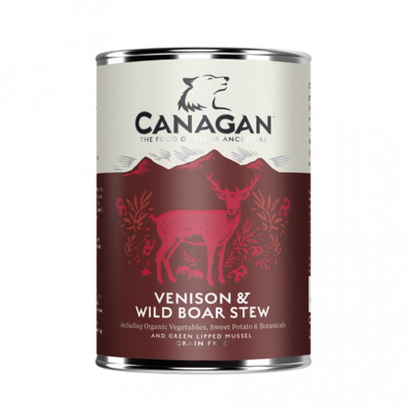 Canagan Venison & Wild Boar Stew Влажный корм для взрослых собак всех пород (рагу из оленины и дикого кабана), 400 гр