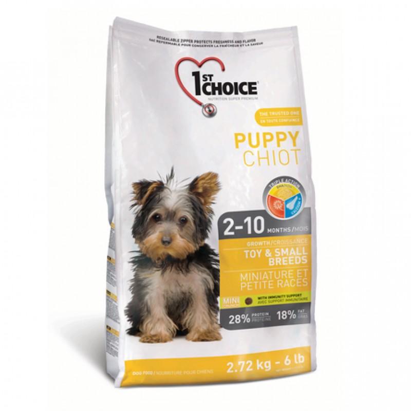 1st Choice Puppy Toy&Small Breeds Cухой корм для щенков декоративных и мелких пород (с курицей), 350 гр