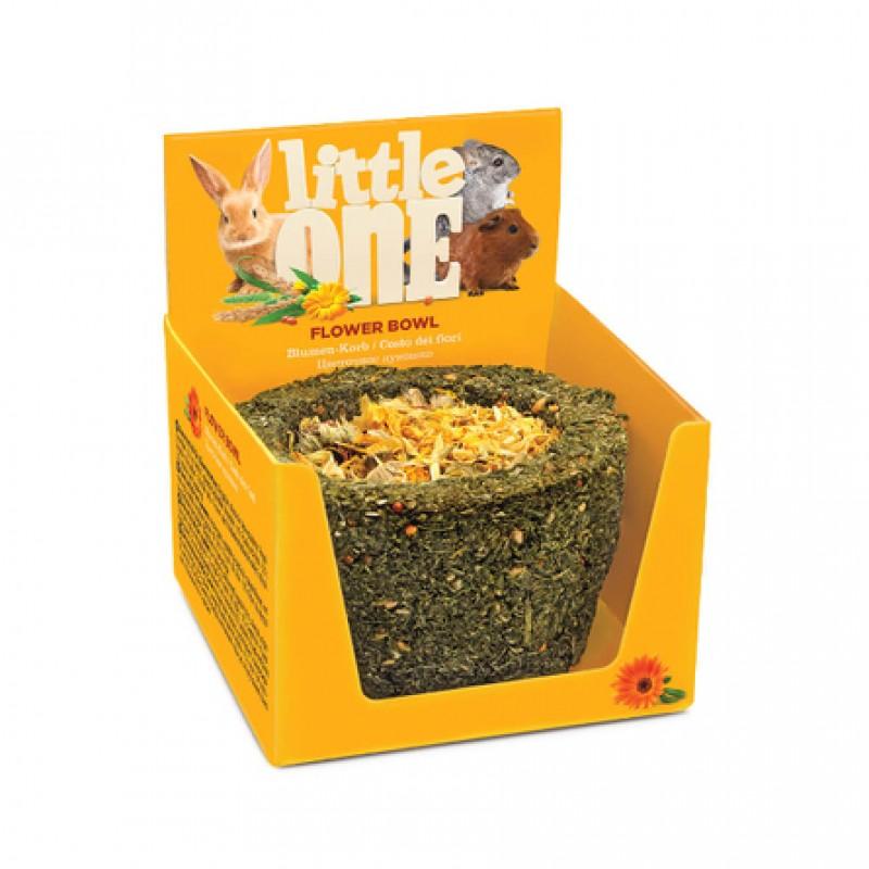 Little One Цветочное лукошко Лакомство для грызунов (с цветами), 140 гр