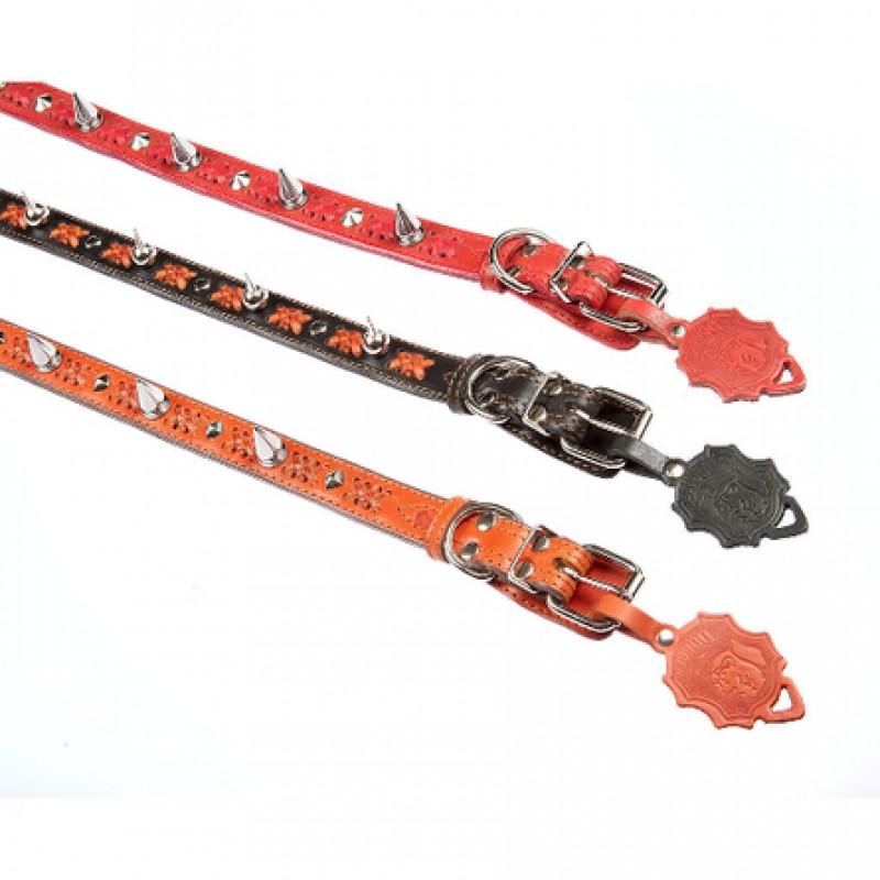 Dogger Ошейник для собак плетёный с шипами, ширина 2,5 см, длина 45-60 см