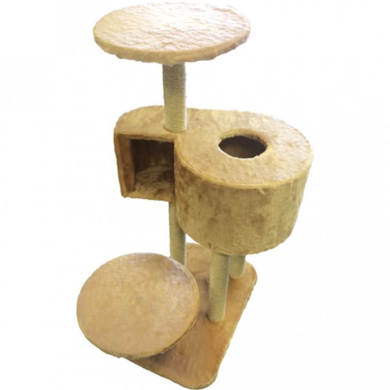 CLP Комплекс с когтеточками и домиком-лабиринтом для кошек, сезаль