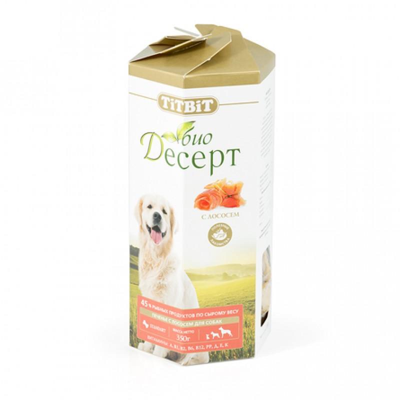 TiTBiT Био Десерт стандарт Печенье для взрослых собак средних и крупных пород (с лососем), 350 гр