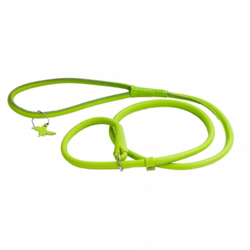 Collar Glamour Поводок-удавка круглый для собак, ширина 6 мм, длина 135 см, зеленый