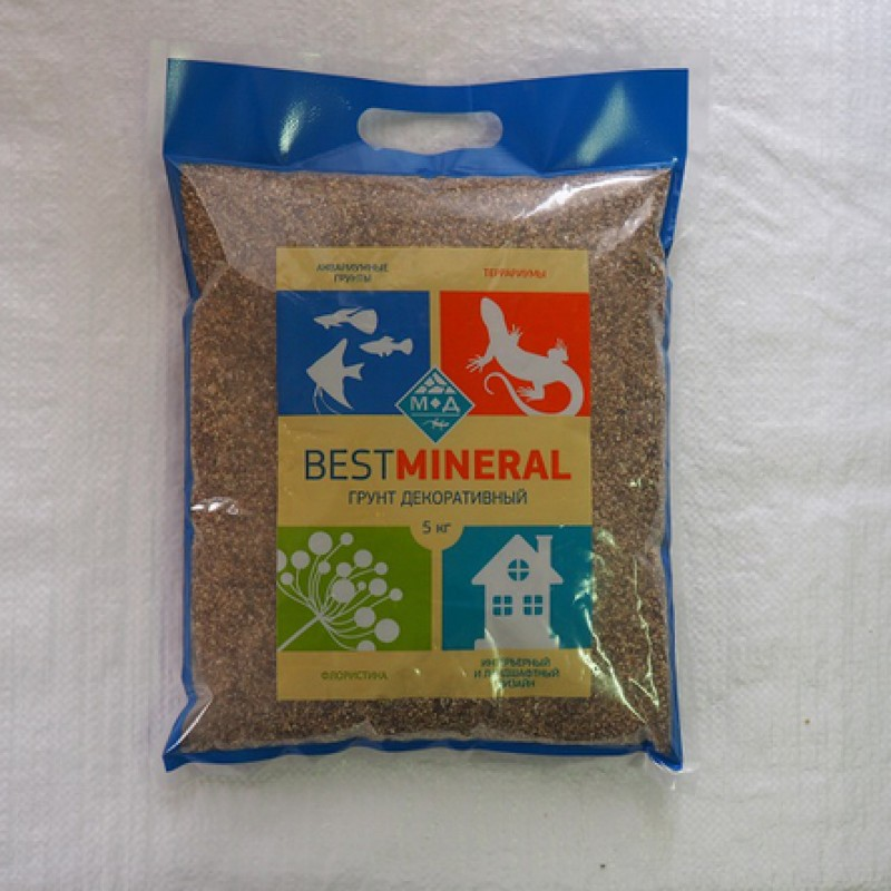 Best Mineral Галька реликтовая №0, фракция 1-3 мм, 5 кг