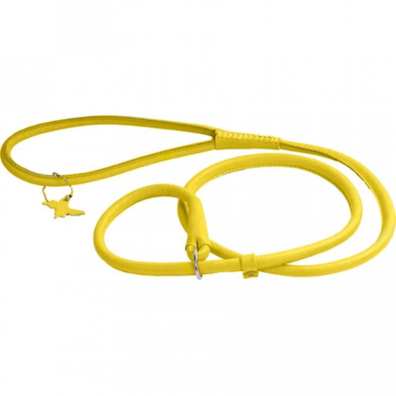 Collar Glamour Поводок-удавка круглый для собак, ширина 6 мм, длина 135 см, желтый