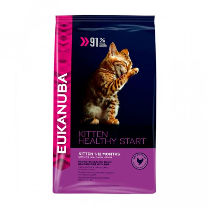 Eukanuba Kitten Healthy Start Сухой корм для котят, беременных и кормящих кошек (с курицей), 400 гр