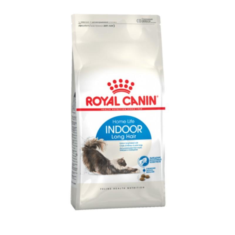 Royal Canin Indoor Long Hair Сухой корм для взрослых домашних длинношерстных кошек, 2 кг