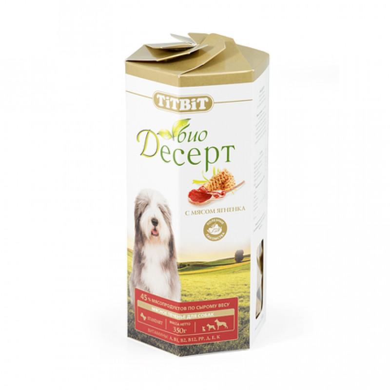 TiTBiT Био Десерт стандарт Печенье для взрослых собак средних и крупных пород (с ягненком), 350 гр