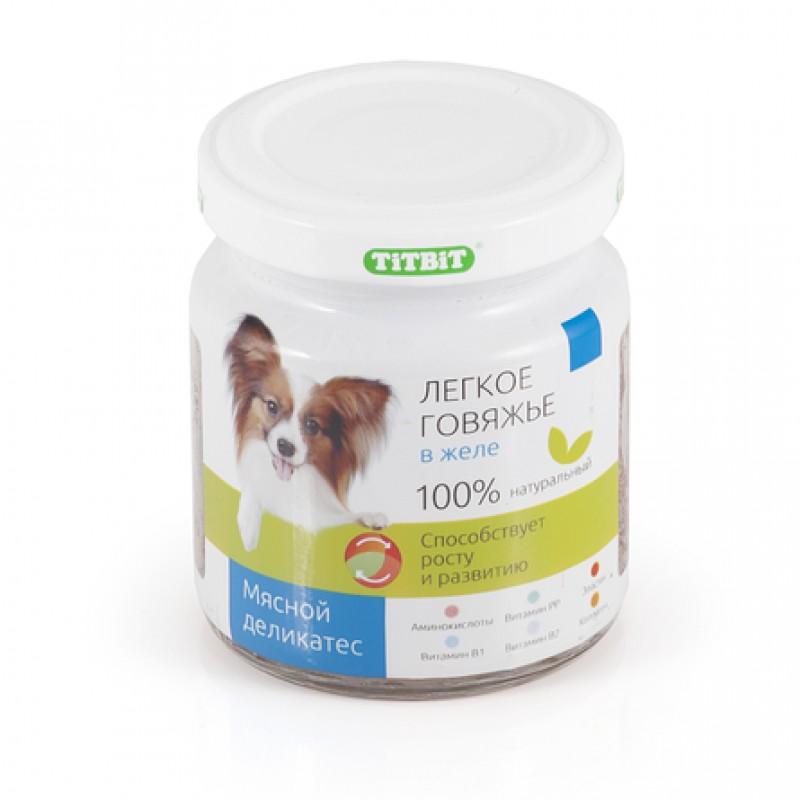 TiTBiT Легкое говяжье в желе для взрослых собак всех пород, 100 гр