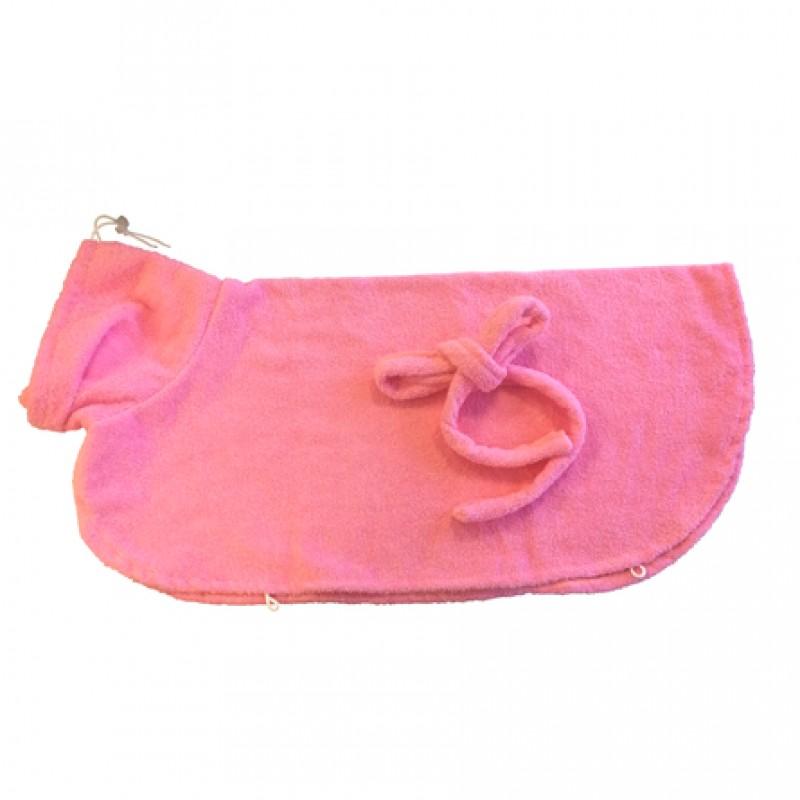CLP Халатик для домашних животных, длина спины 80 см, высота 45 см, розовый