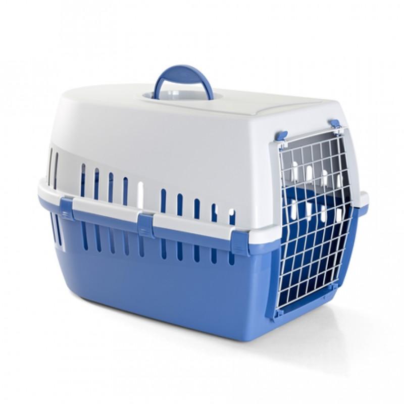 Savic Trotter 3 Пластиковая переноска для небольших животных, синяя