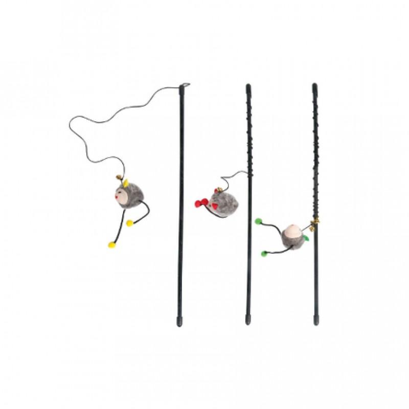 Flamingo Удочка Игрушка для кошек, с мышкой