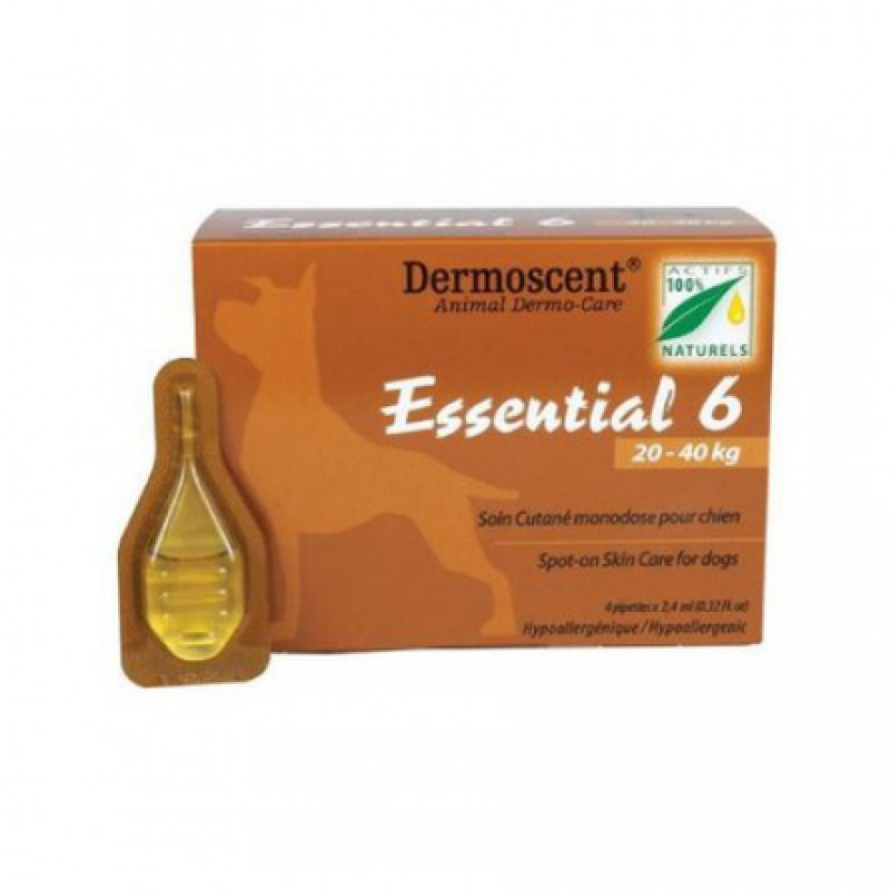Dermoscent Essential 6 капли для комплексного ухода за кожей собак L