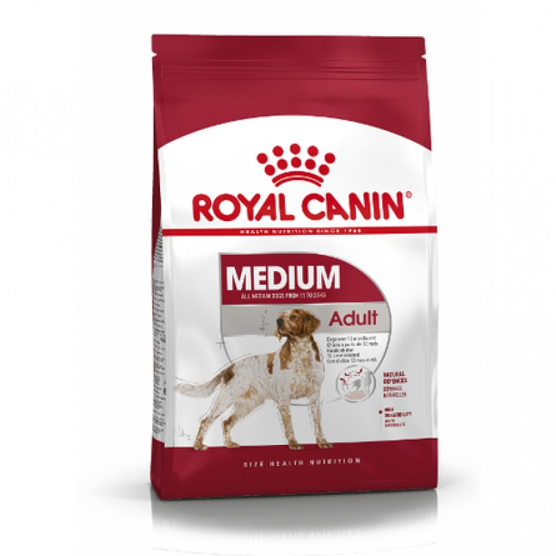 Royal Canin Medium Adult Сухой корм для взрослых собак средних пород, 15 кг