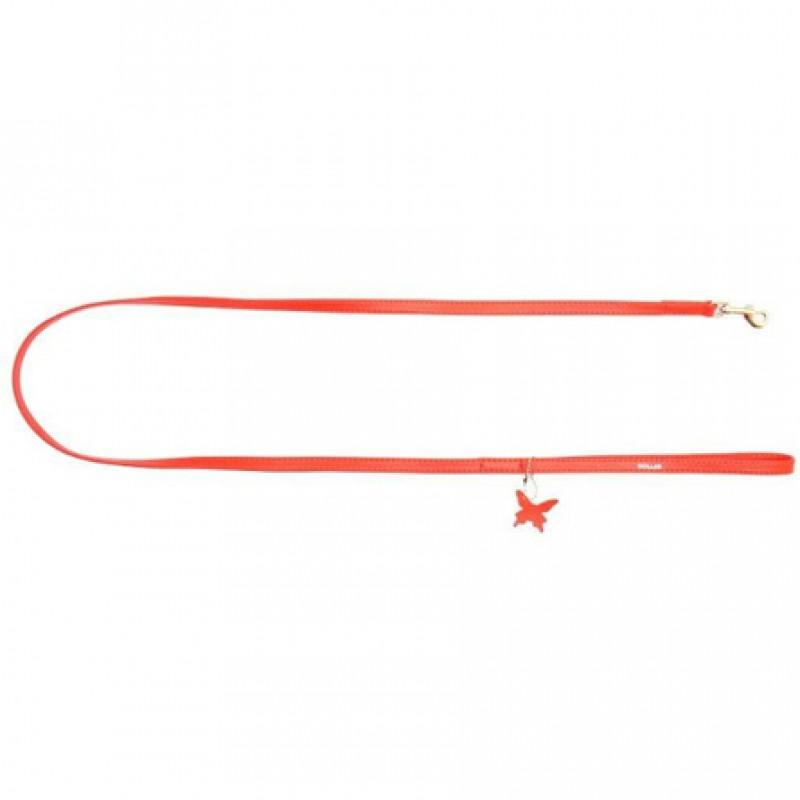 CoLLaR GLAMOUR Поводок красный (ширина 12 мм, длина 122 см)