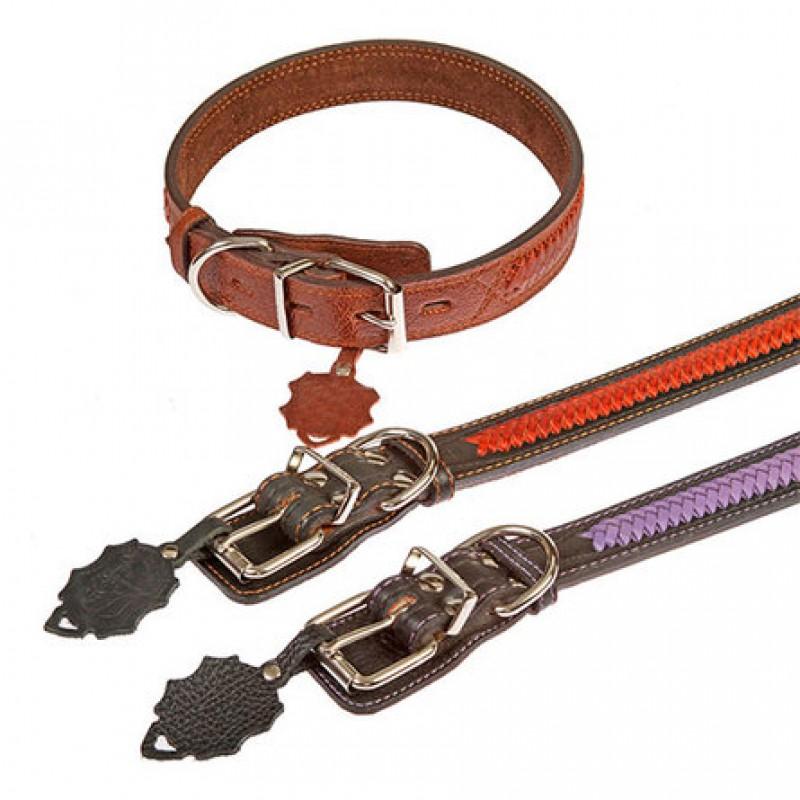 Dogger Ошейник для собак, с плетением, ширина 3,5 см, длина 50-70 см