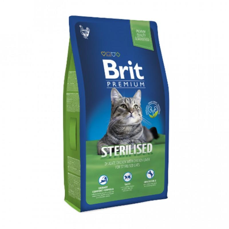 Brit Premium Cat Sterilized Сухой корм для кастрированных котов и стерилизованных кошек (с курицей), 800 гр