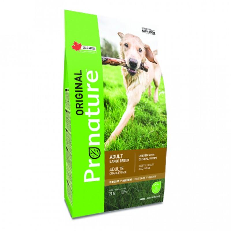 Pronature Original NEW Сухой корм для взрослых собак крупных пород (с курицей), 15 кг