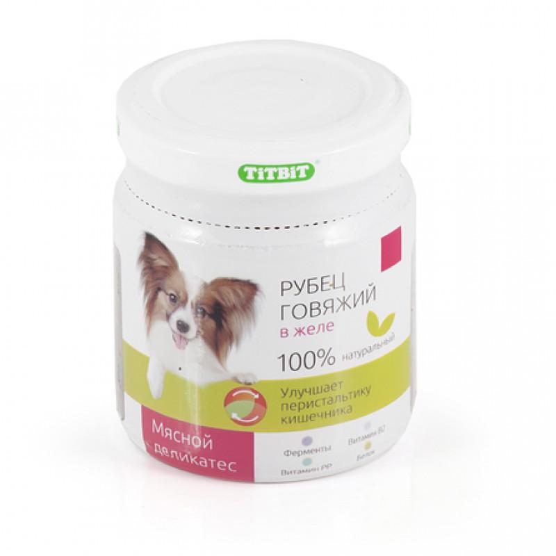 TiTBiT Рубец говяжий в желе для взрослых собак всех пород, 100 гр