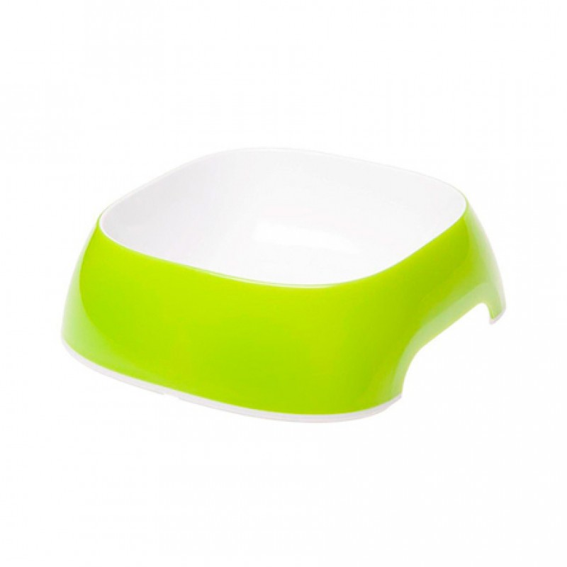 Ferplast Glam Medium Миска для собак, зелёная, пластик