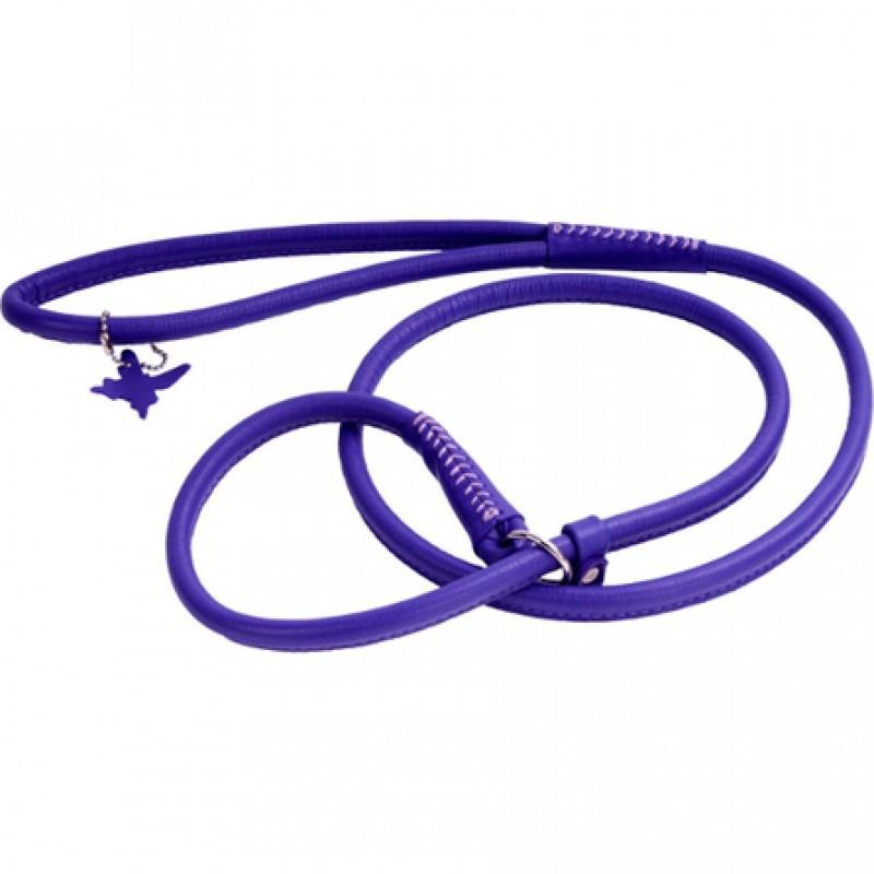 Collar Glamour Поводок-удавка круглый для собак, ширина 6 мм, длина 135 см, фиолетовый