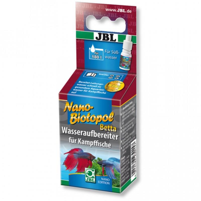 JBL NanoBiotopol Betta препарат для подготовки воды в аквариумах с петушками, 15 мл