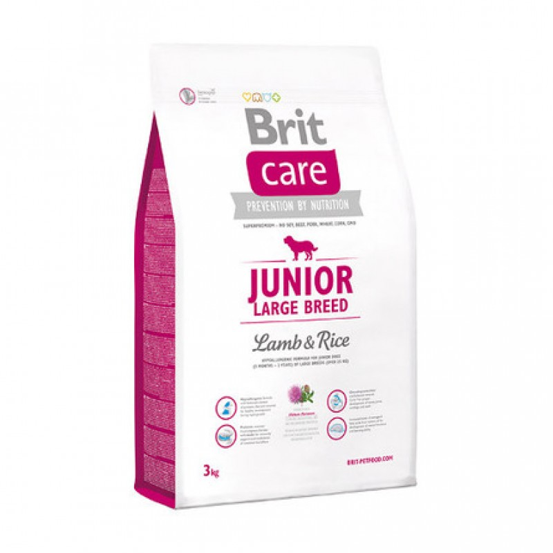 Brit Care Junior Large Breed Сухой корм для щенков крупных пород (с ягненком и рисом), 3 кг