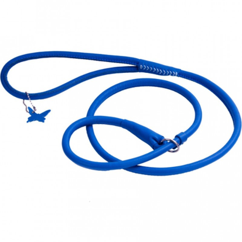 Collar Glamour Поводок-удавка круглый для собак, ширина 8 мм, длина 135 см, синий