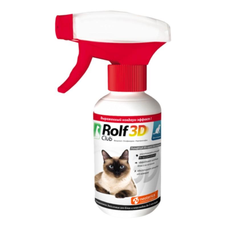 ROLF CLUB Спрей от клещей и блох для кошек, 200 мл
