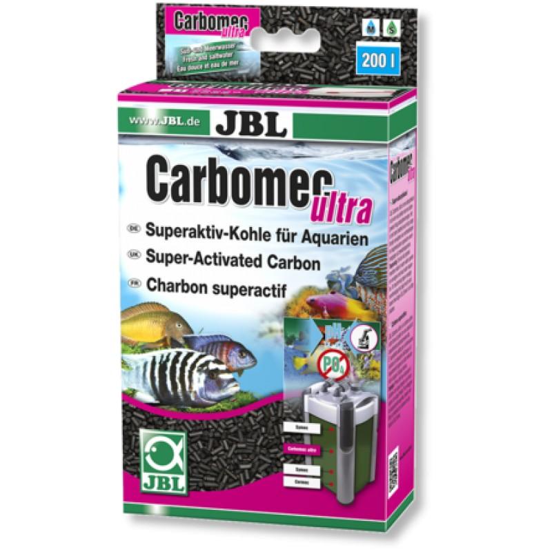 JBL Carbomec ultra Суперактивный гранулированный уголь для фильтров в морских аквариумах, 400 гр