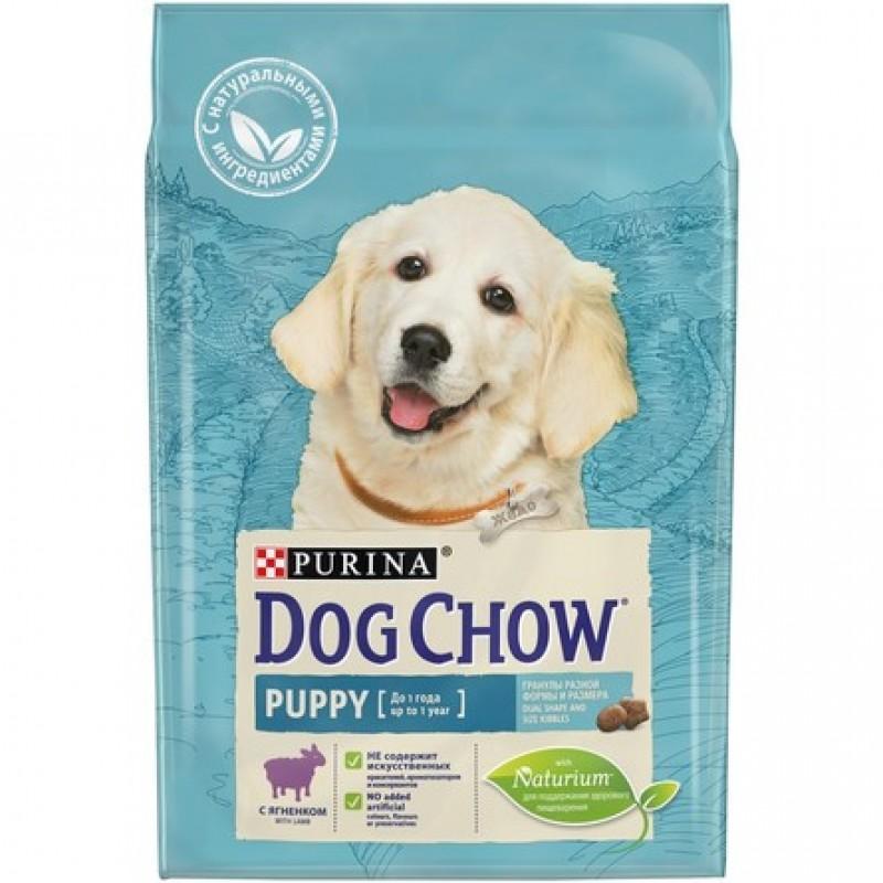 Dog Chow Puppy Сухой корм для щенков всех пород (с ягненком), 2,5 кг