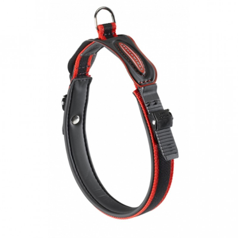 Ferplast Ergocomfort Ошейник для собак, ширина 2,5 см, длина 60 см, красный