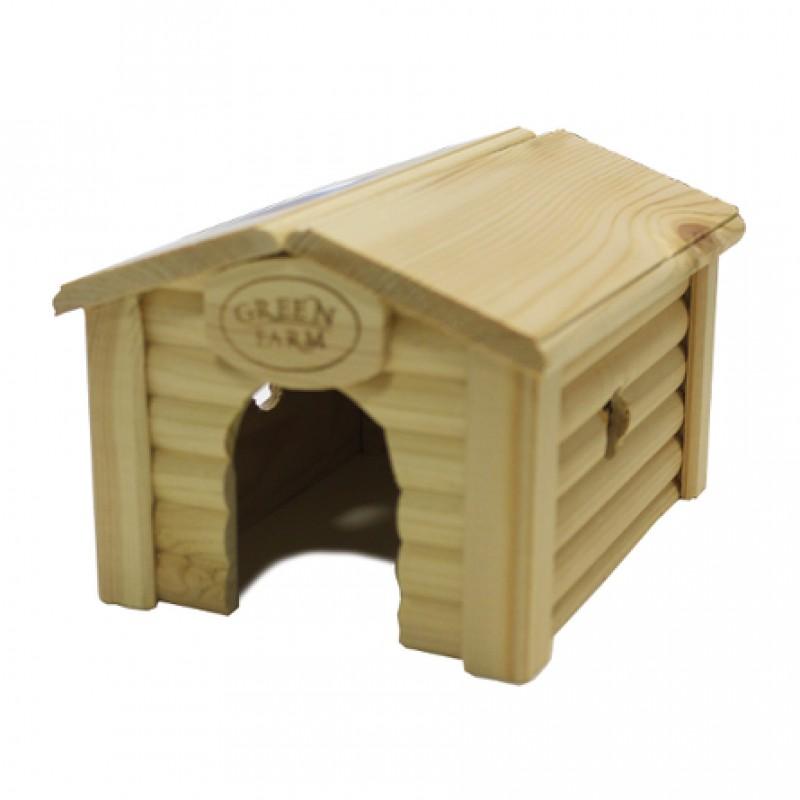 Дом с коньковой крышей для мелких грызунов И-224