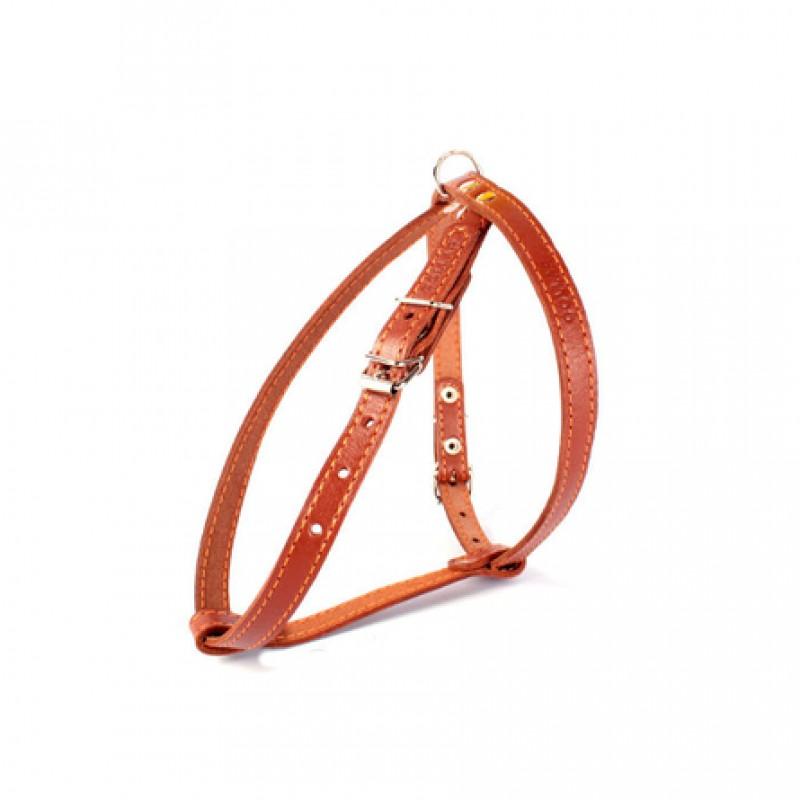 Collar Шлейка одинарная для собак, ширина 1,4 см, обхват шеи 40-48 см, обхват груди 43-51 см, коричневая