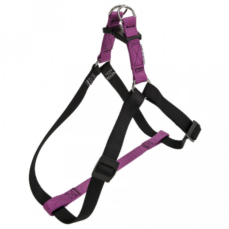 Ferplast Easy Colours P Шлейка для собак, ширина 1 см, обхват шеи 36-54 см, обхват груди 36-54 см, фиалковая